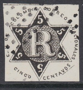 COLOMBIA  An old forgery of a classic stamp.................................D373