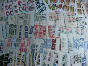 Canada 200 different MNH plate blocks, 1940s to 1970s era, nice group here!
