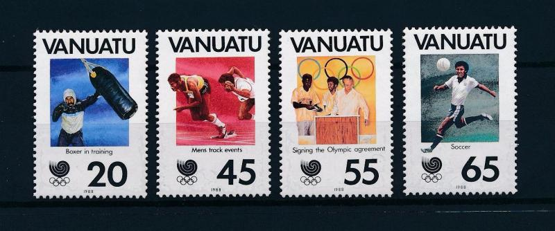 [56365] Vanuatu 1988 Olympic games Boxing Football Athletics MNH