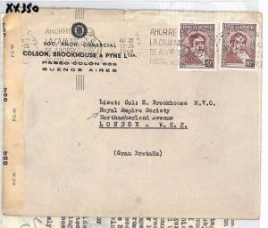 WW2 ARGENTINA Buenos Aires GB London Contents Royal Empire Society 1944 XX350