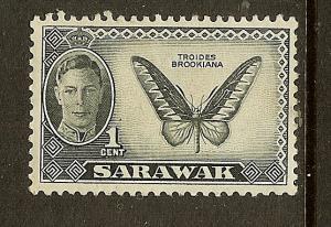 Sarawak, Scott #180, 1c King George VI, MLH