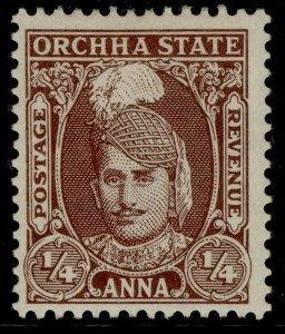 INDIAN STATES - Orchha GVI SG31, ¼ chocolate, M MINT.
