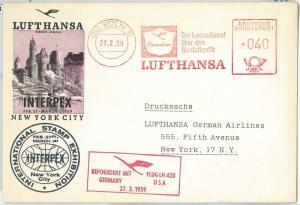 60204 - GERMANY - FIRST Flight COVER: Lufthansa GERMANY - USA New York 1959