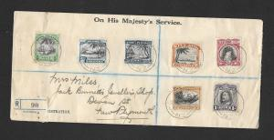 NIUE 1937 REGISTERED  COVER TO NZ