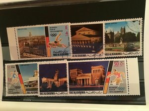 Ras Al Khaima Múnich winter  olympic   stamps  R21960
