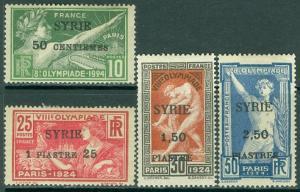 EDW1949SELL : SYRIA 1924 Scott #133-36 Olympics Very Fine, Mint OG. Cat $120.00.