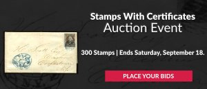 The 21st Stamps With Certificates Auction