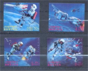 BHUTAN, SPACE TOPIC LOT 2 SHEETLETS + 12 STAMPSNEVER HINGED