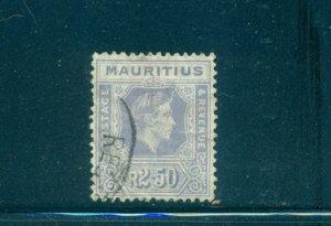 Mauritius - Sc# 220. 1943 Geo. VI 2.50R  Used. $26.00.