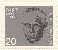 Germany 884 Nazi Resistance Portraits MNH 1964 Ludwig Beck