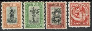 PAPUA 1932 PICTORIAL 1/2D - 2D