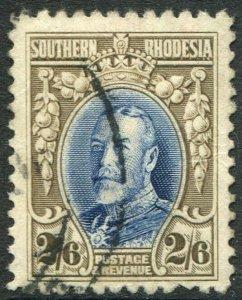 SOUTHERN RHODESIA-1931-37 2/6 Blue & Drab Line Perf 12 Sg 26 AU V48912