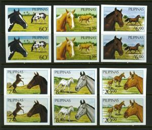 Philippines #1898-1903 Horses with Sheet IMPERF - RARE - Mint Never Hinged