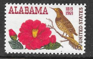 USA 1375: 6c Northern Flicker (Colaptes auratus), Camellia, MNH, VF