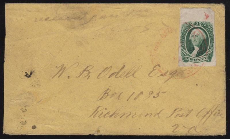 CSA #13 ON COVER WITH RED CANCEL CV $1,450.00 WL6278