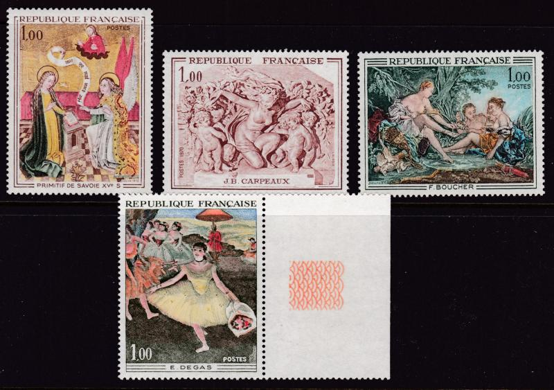 France 1970 ART Issue Complete (4) VF/NH The Dancer by Edgar Degas VF/NH