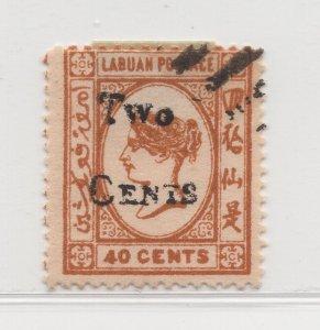 Malaya Labuan - 1892 - SG49 - 2c on 40c - used #691
