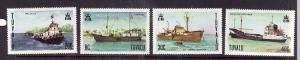 Tuvalu-Sc#77-80-unused NH set-Ships-1978-