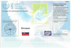 SLOVAKIA - (IRC) INTERNATIONAL REPLY COUPON (exp. 31.12.2021) (POSTMARKED), MNH