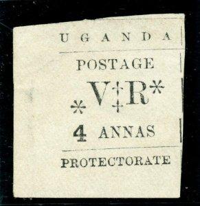 Uganda 1896 QV 4a black (no gum as issued) MLH. SG 58. Sc 65.