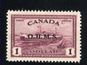 Canada #O10   Mint   VF   1949-50 PD