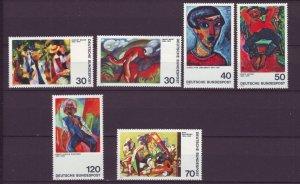 J21690 Jlstamps 1974 germany set mnh #1135-40 art