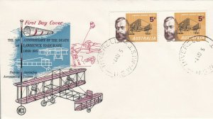 AFD1221) Australia 1965 FDC -UNADDRESSED-50TH ANNIVERSARY OF LAWRENCE HARGRAVE.R