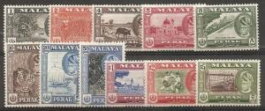 Malaya Perak 127-37 1957-61 Views set NH