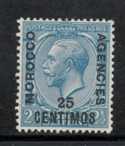 Great Britain Offices Morocco 1926 Overprint 25c on 2 1/2p Scott # 61 MH