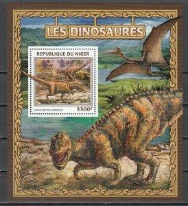 Niger, 2016 issue. Dinosaur s/sheet. ^