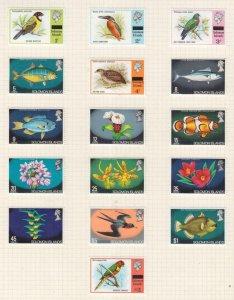 SOLOMON ISLANDS, 1975 Flora & Fauna set of 16, lhm.