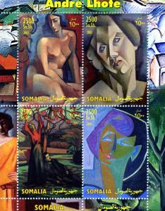 Somalia 2003 ANDRE LHOTE Nudes Paintings Sheet (4) Perforated Mint (NH)
