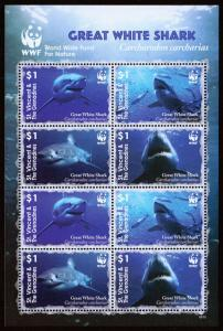 St. Vincent & Grenadines Scott 3529 (2006) WWF Great White Shark, Mint NH VF C