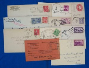 11 California Post Office Covers, See Remark (S17259)