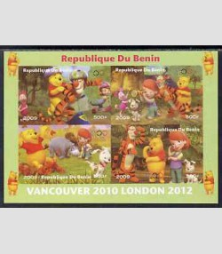 DISNEY Winnie The Pooh Sheet Perforated Mint (NH) #2