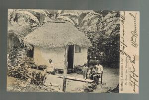 1909 San Juan Puerto Rico to Canton OH RPPC Postcard Cover Port Antonia scene