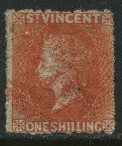 St. Vincent QV 1891 1/ red orange used