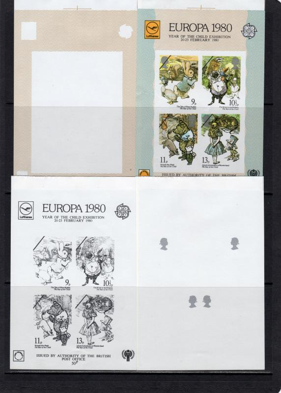 Great Britain  1980 Year of the Child/Europa Cept SS Autho by BPO  COLOR PROOFS