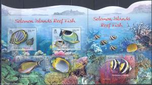 SOLOMON ISLANDS 2012 REEF FISH  MASTER SHEET CONTAINING S/S  &  SHEET