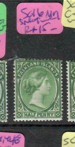 FALKLAND ISLANDS  (PP1106BB)  QV  1/2D  SG 16  SPLIT  WMK   MOG