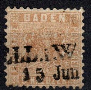 Baden #17 F-VF  Used CV $72.50  (X4063)