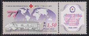 Macau 1997 77th Anniv of Macau Red Cross Stamp Set of 1 MNH