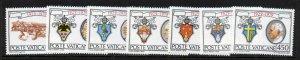 Vatican 657-63 MNH Popes Pius XI, XII, John XXIII, Paul VI, John Paul II