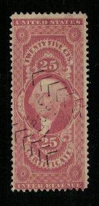 1862-72 U.S. Inter Revenue Inter..Revenue Certificate 25c (TS-365)