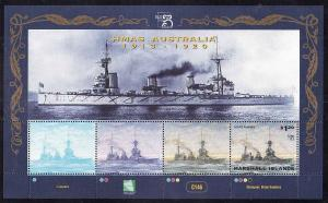 Marshall Is.-Sc#703-Unused NH sheet-Ships-HMAS Australia-1999-