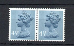 41/2p MACHIN UNMOUNTED MINT PAIR + BLIND PERFORATION