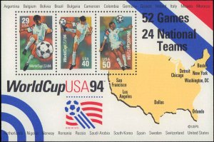 1994 United States #2837, Complete Set, Souvenir Sheet, Never Hinged