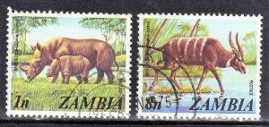 ZAMBIA  #135+140  USED  1975    SEE SCAN