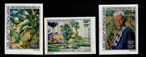 LAOS Scott C72-C74 MNH** Imperforate stamp set