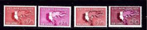 South Vietnam 162-65 MNH 1961 Youth Day